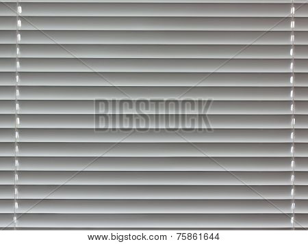 Fragment Of Window Plastic Blinds