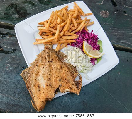 Flounder And Chips