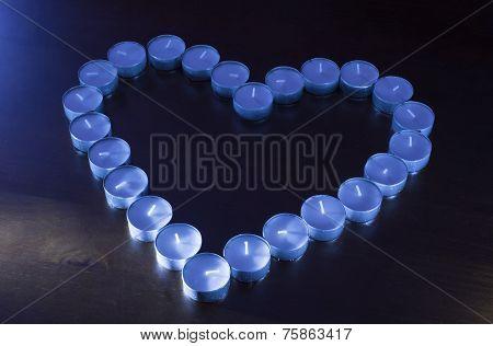 Unlit Tealights In Shape Of A Heart