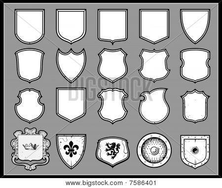 heraldic shields - templates