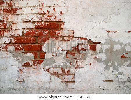 Cracked Grunge Brickwall Background