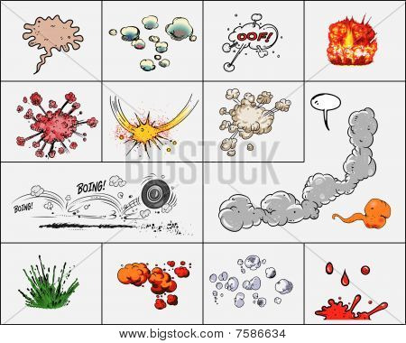 vector set of explosions