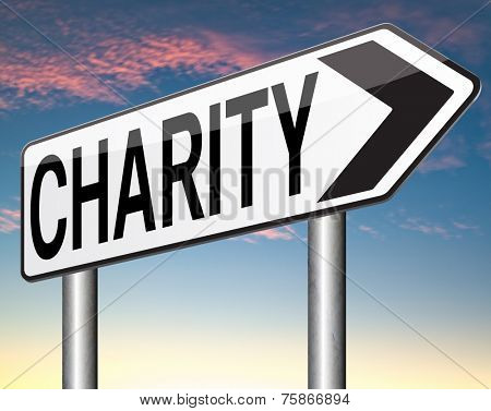 charity donation give to the needy and poor donate a gift