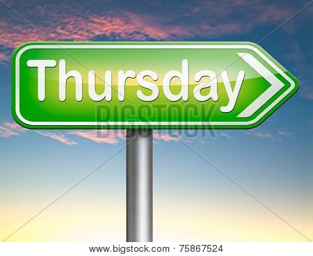 thursday week next or following day schedule concept for appointment or event in agenda
