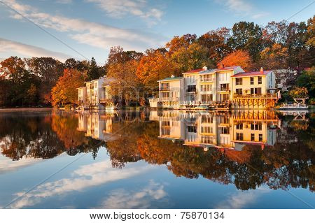 Autumn Lake Anne Reston Virginia