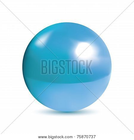 Photorealistic shiny blue orb