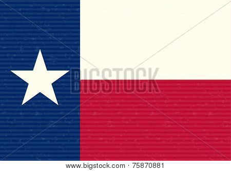 Texas Flag Grunge Background