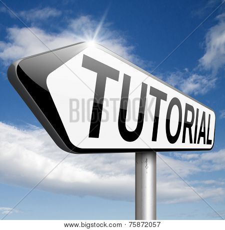 tutorial e-learning learn online video lesson or class, website internet education