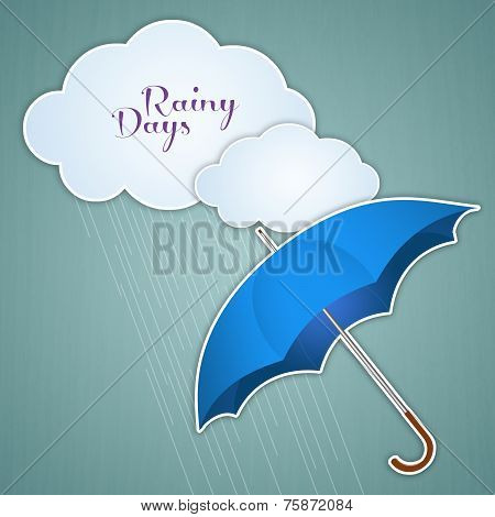 Clouds And Umbrella For Rainy Days