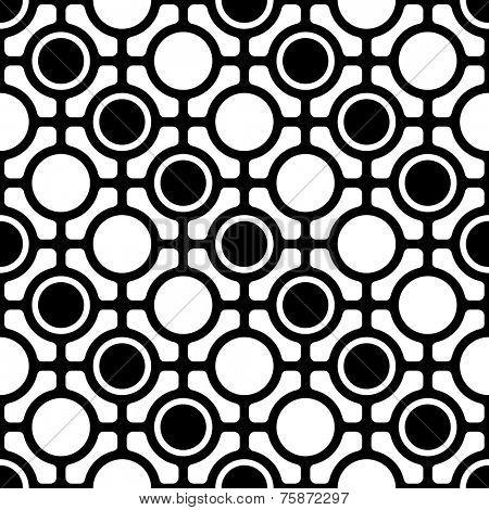 Seamless Monochrome Oriental Pattern
