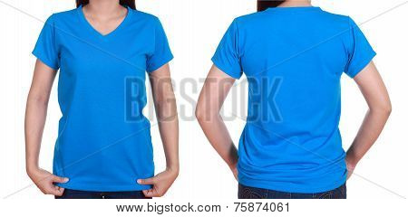 Blank T-shiet Set (front, Back) With Female