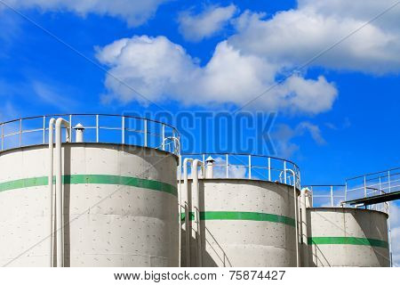 Warehouse of oil products.Fuel Tanks