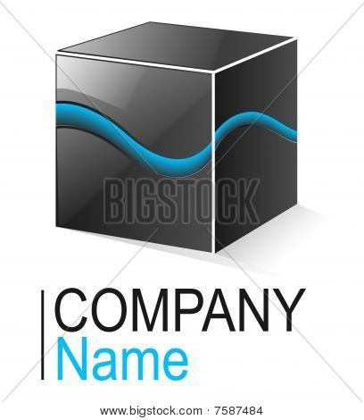 glossy metallic cube