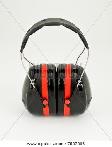 Hearing protection earmuffs.