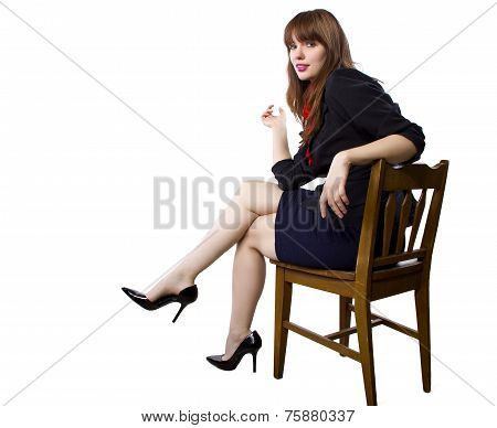 Businesswoman with Heels