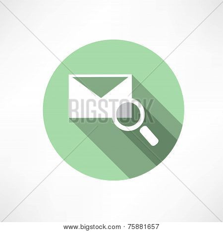 envelope with magnifying glass icon