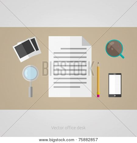 Vector Office Table