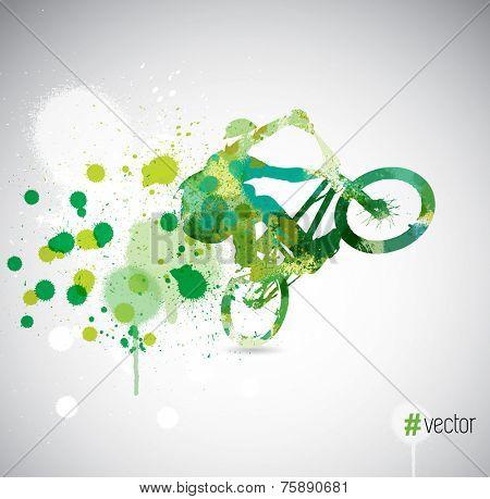 Sport poster background, vector