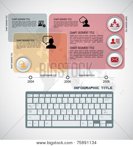 Infographics elements, vector