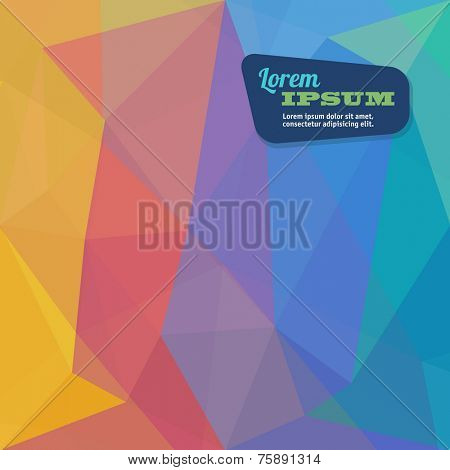 Abstract triangle geometrical pastel rainbow background, Vector.