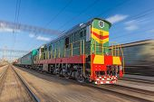 stock photo of high-speed train  - High speed diesel train on a clear day - JPG