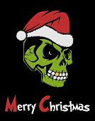 picture of dreads  - Zombie Santa Claus wishing Merry Christmas - JPG