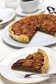 image of pecan  - homemade pecan pie - JPG