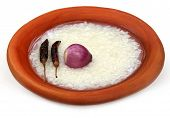 picture of bangladesh  - Traditional water soaked rice of Bangladesh on a pottery - JPG