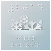 picture of braille  - Braille Alphabet New Year Background With Paper Graphic Style - JPG