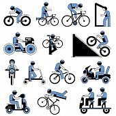 foto of tandem bicycle  - bicyclist riding a bicycle icons - JPG
