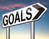foto of goal setting  - goals and ambition way to success guarantee to reach your goal and go to the top   - JPG