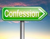 picture of repentance  - confession plea guilty as charged and confess crime testimony or proof truth  - JPG