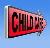 picture of babysitting  - child care in daycare parenting or babysitting protection against child abuse   - JPG