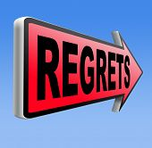 pic of apologize  - regret or no regrets saying sorry and offer apologize being ashamed for bad decisions  - JPG