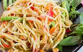picture of green papaya salad  - Green papaya salad thai food spicy delicious - JPG
