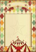 stock photo of rhombus  - Rhombuses circus vintage background - JPG