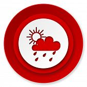 rain icon, waether forecast sign  poster