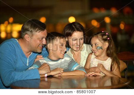family at the table