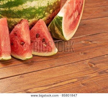 Watermelon with slices composition