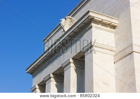 Federal Reserve building in Washington DC US.