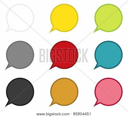 Collection Of 9 Circle Speech Bubbles