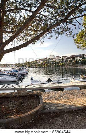 Marina In Adriatic Sea Bay Harbor In Pula, Croatia