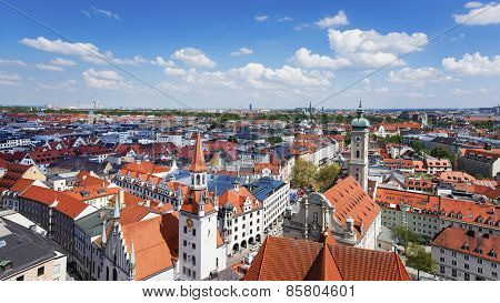 Munich City Center Skyline