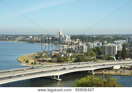 Viiew Of Perth-capital Of Western Australia.