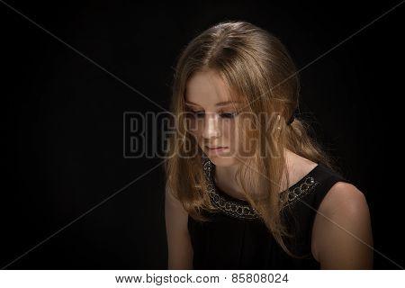 Sad Pensive Girl
