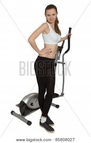Woman Posing With Trainer