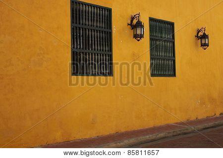 Colourful House in Cartagena de Indias