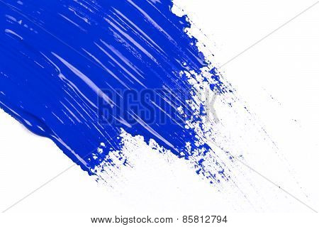 Blue Stroke Of The Paint Brush