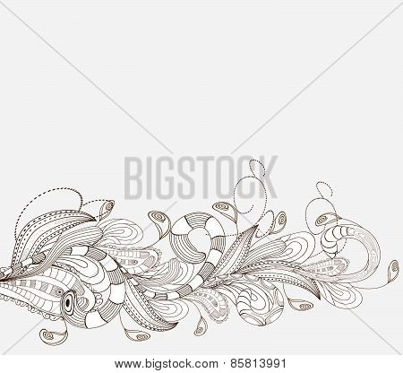 Hand Drawn doodle floral background
