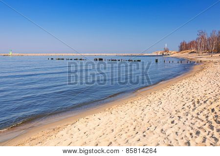 Beautiful beach at Baltic Sea, Poland